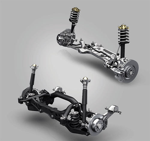Front and Rear suspension of Borgward BX7 100 Years
