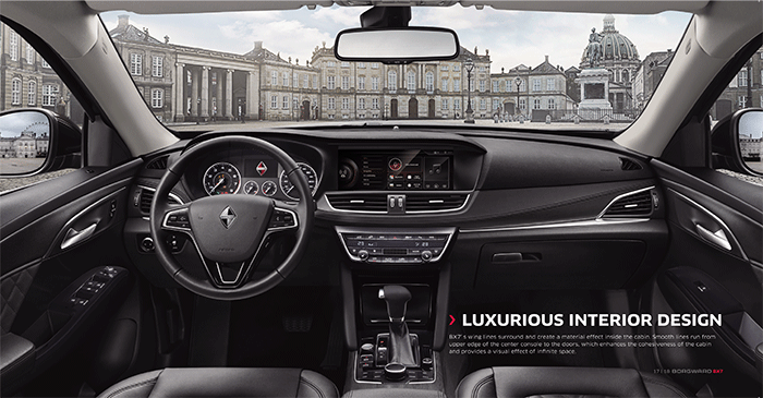 Luxurious Interior Design of Borgward BX7