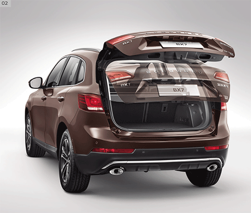 Power liftgate of Borgward BX7