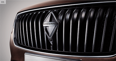 Grilles of Borgward BX7
